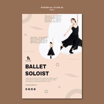 Modèle de flyer de concept de ballet