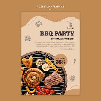 Modèle de flyer de concept de barbecue