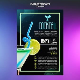 Modèle de flyer de concept de cocktail