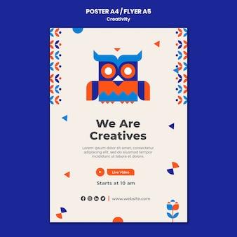 Modèle de flyer de concept de créativité