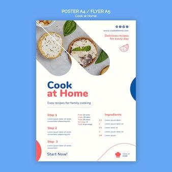 Modèle de flyer concept cuisinier à la maison