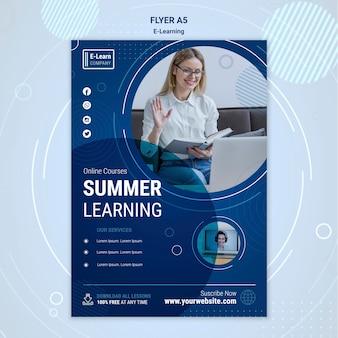 Modèle de flyer concept e-learning