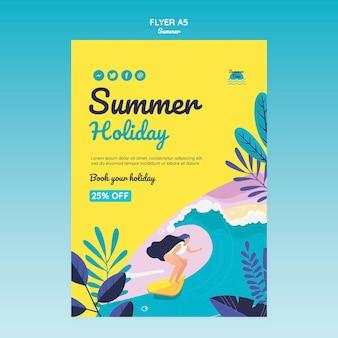 Modèle de flyer de concept d'été
