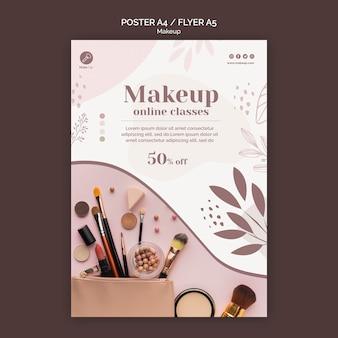 Modèle de flyer de concept de maquillage