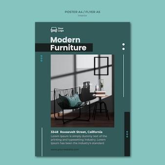 Modèle de flyer de concept de meubles