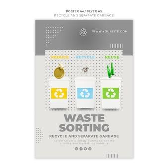 Modèle de flyer de concept de recyclage
