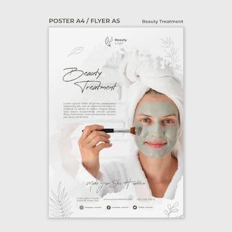 Modèle de flyer de concept de traitement de beauté