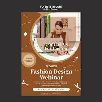 Modèle de flyer de conception de mode