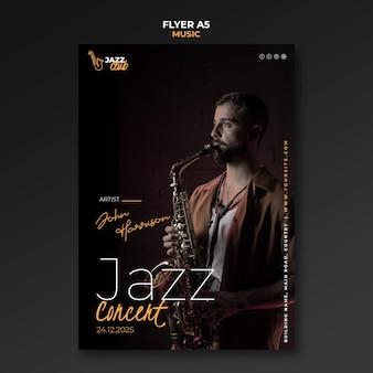 Modèle de flyer de concert de jazz