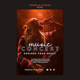 Modèle de flyer de concert de musique