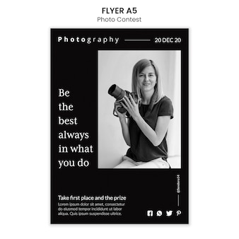 Modèle de flyer de concours photo