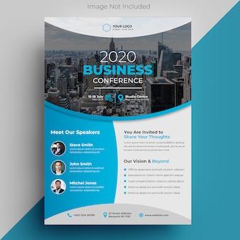 Modèle de flyer de conférence d'entreprise