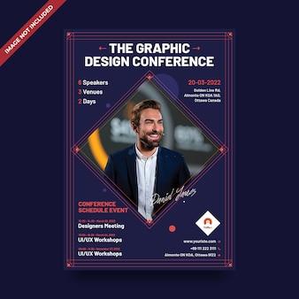 Modèle de flyer de conférence d'événement psd