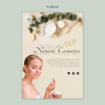 Modèle de flyer de cosmétiques naturels