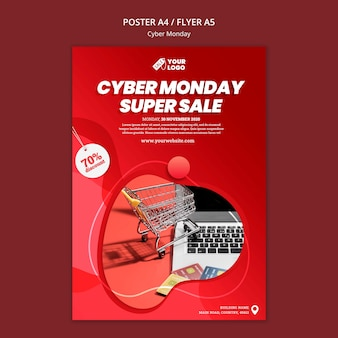 Modèle de flyer cyber lundi