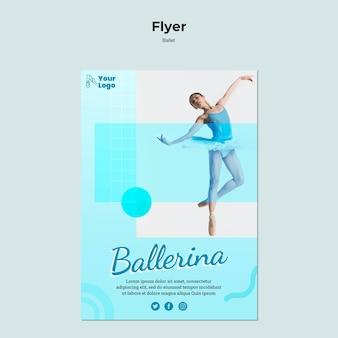 Modèle de flyer de danseur de ballet