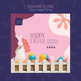 Modèle de flyer avec design chocolat