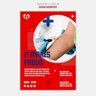 Modèle de flyer de don de sang