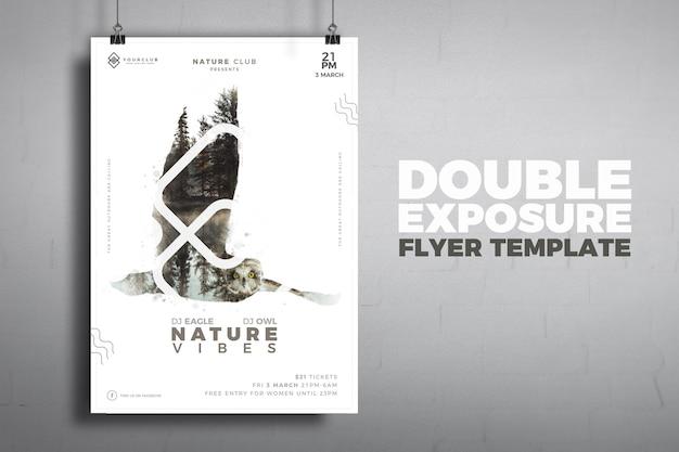 Modèle de flyer de double exposition
