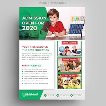 Modèle de flyer de éducation des enfants