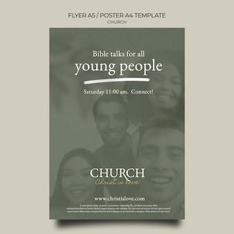 Modèle de flyer d'église créative