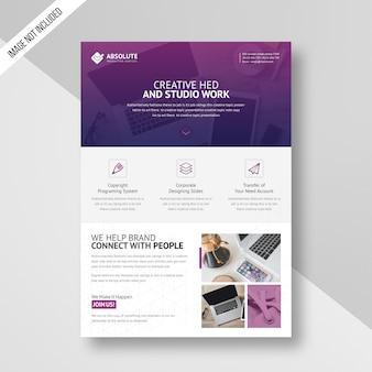 Modèle de flyer de entreprise créative