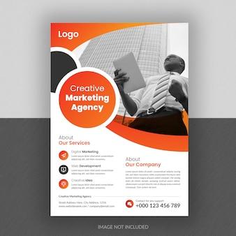 Modèle de flyer d'entreprise avec dégradé de couleur