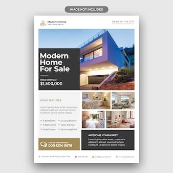 Modèle de flyer de entreprise immobilière