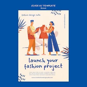 Modèle de flyer d'entreprise de mode