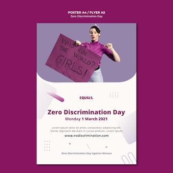 Modèle de flyer d'événement de la journée zéro discrimination