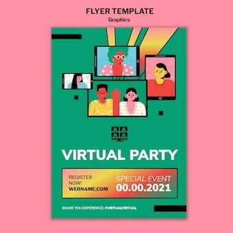Modèle de flyer d'événement en ligne