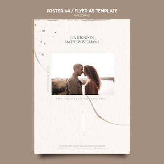 Modèle de flyer d'événement de mariage