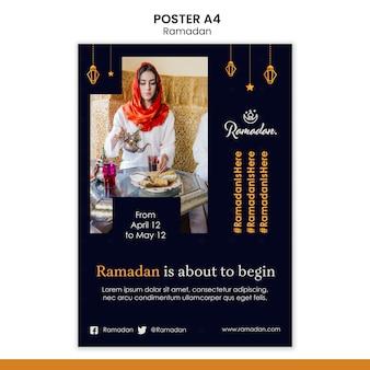 Modèle de flyer événement ramadan