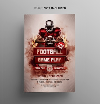Modèle de flyer de événement sportif de football