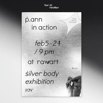 Modèle de flyer d'exposition d'art