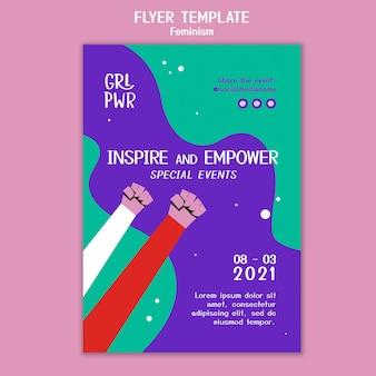 Modèle de flyer de féminisme