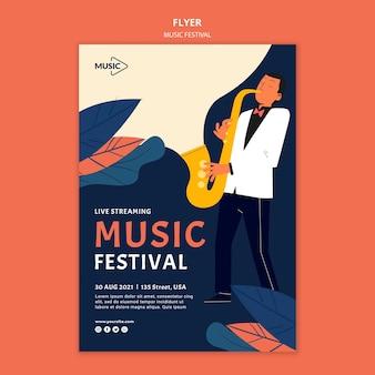Modèle de flyer de festival de musique