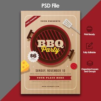 Modèle de flyer fête barbecue
