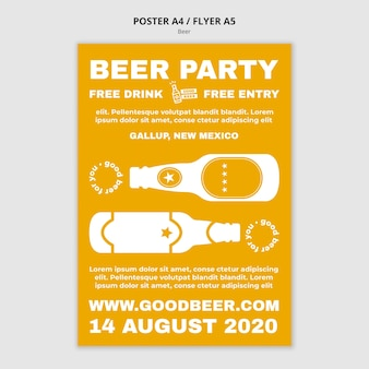 Modèle de flyer fête de la bière
