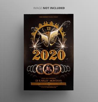 Modèle de flyer de fête du nouvel an