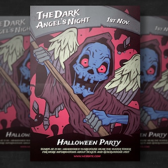 Modèle de flyer de fête d'halloween