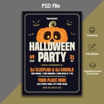 Modèle de flyer fête halloween