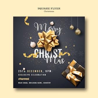Modèle de flyer de fête de noël