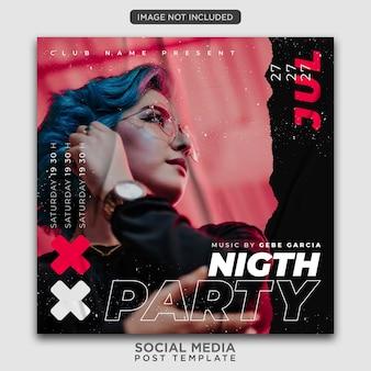Modèle de flyer de fête ou publication sur les réseaux sociaux