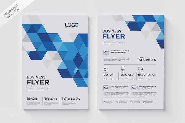 Modèle de flyer de formes géométriques, dépliant de brochure abstraite