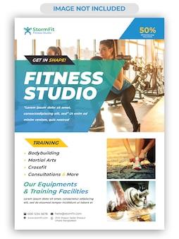 Modèle de flyer de gym fitness