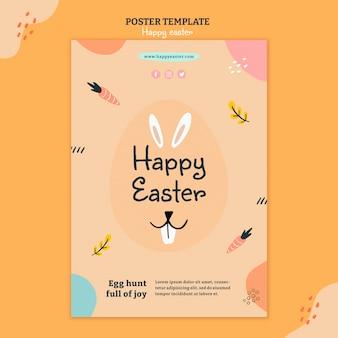 Modèle de flyer illustré joyeux jour de pâques