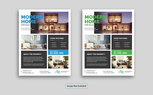 Modèle de flyer de immobilier moderne