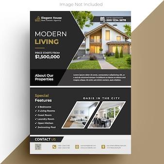 Modèle de flyer de l'immobilier