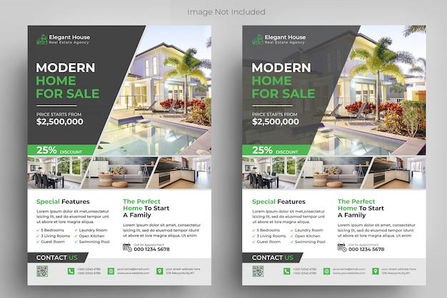 Modèle de flyer de immobilier